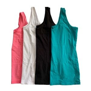 Maurices-Bundle of 4 Scoop Neck Layering Tanks
